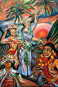 Tänzer auf Hawaii