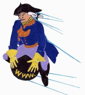 Karikatur zur Illustration eines Buches.